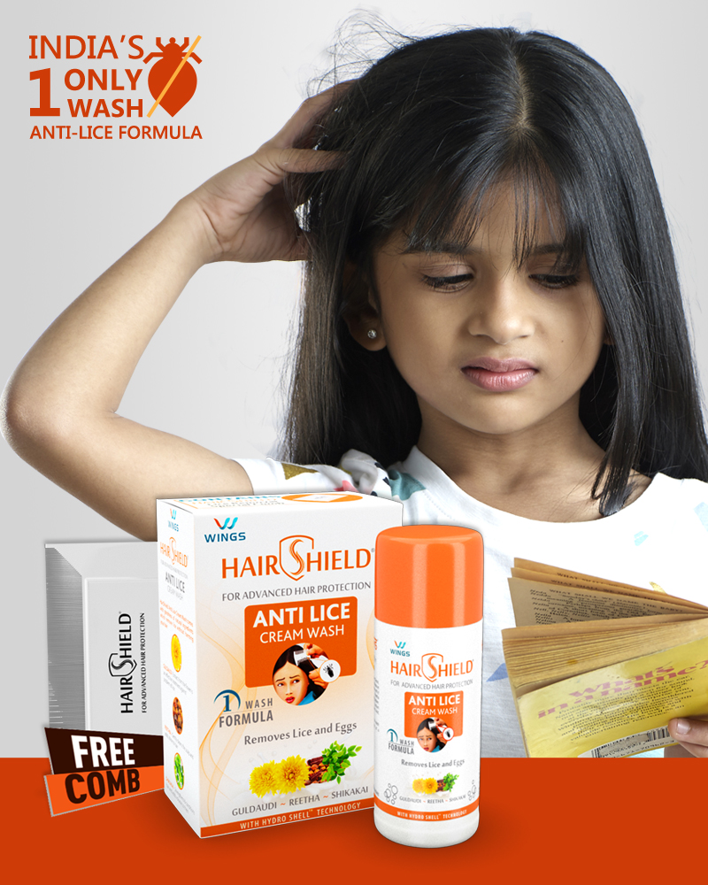 India's No 1 Head Lice Treatment Product | Hairshield India's 1 only wash anti-lice formula | Kills Lice and Eggs In One Go